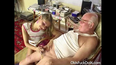grandfather Mireck smashes cute 18yo nymph - OldsFuckDolls.com