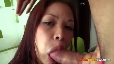 Amazing 20 Years Old Latina Swallowing Cum Load