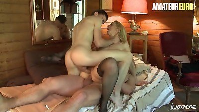 LA COCHONNE - #Louise Du Lac - thick ass French milf double-penetration fun With Stepson And new husband