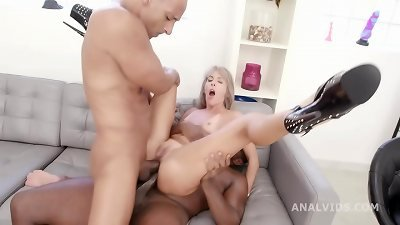 double ass fucking creampie Vicky Sol is back for balls Deep Anal, Gapes, harsh hump and creampie drink GIO1547