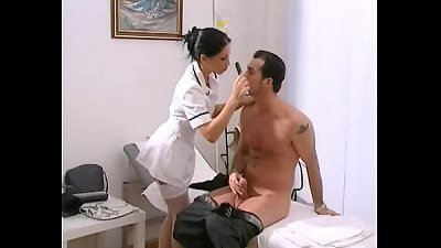 private practise sexy nurse mya diamond in stockings gets facial