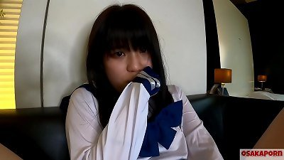legitimate years senior teen japanese with small tits splatters and gets climax with finger nail and hookup toy. inexperienced chinese with college costume cosplay gives blowjob deeply. Mao 7 OSAKAPORN