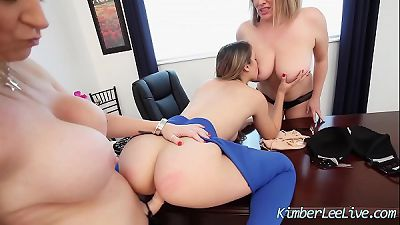 Teen Kimber Lee has Lesbian 3some with Sara Jay N Maggie Green