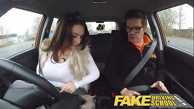 Fake Driving School busty jailbird goes on a wild ride!